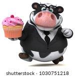 fun cow   3d illustration | Shutterstock . vector #1030751218