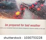 white sign saying be prepared... | Shutterstock . vector #1030753228