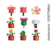 pixel art 80s style beautiful... | Shutterstock .eps vector #1030754866