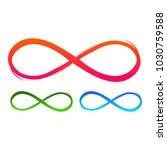 infinity sign set isolated on... | Shutterstock .eps vector #1030759588