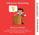 influencer marketing word of... | Shutterstock .eps vector #1030769479