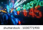 stock market display in the... | Shutterstock . vector #1030771900
