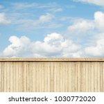 wooden fence sky clouds | Shutterstock . vector #1030772020