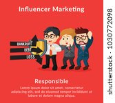 influencer marketing... | Shutterstock .eps vector #1030772098