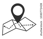 map icon in trendy flat style...