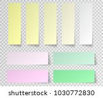 post sticky note isolated. set... | Shutterstock .eps vector #1030772830