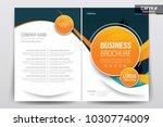 vector brochure layout  flyers... | Shutterstock .eps vector #1030774009