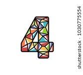 number four shiny logo design | Shutterstock .eps vector #1030775554