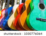 Colorful Guitars On The...