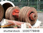 natural gas pig or piping... | Shutterstock . vector #1030778848