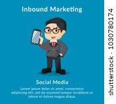 inbound marketing social media... | Shutterstock .eps vector #1030780174