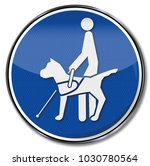 blind dog on a leash for blind... | Shutterstock . vector #1030780564