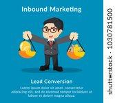inbound marketing lead... | Shutterstock .eps vector #1030781500