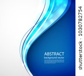 blue line abstract background.... | Shutterstock .eps vector #1030782754
