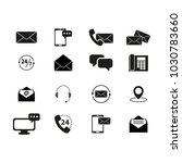 set of contacts black icons | Shutterstock .eps vector #1030783660
