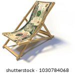 folding deckchair with ten... | Shutterstock . vector #1030784068