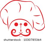 chef face logo food and drink  | Shutterstock .eps vector #1030785364