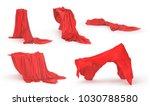 set of different cloth cover... | Shutterstock . vector #1030788580