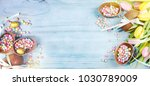 ester background with colorful... | Shutterstock . vector #1030789009