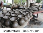 pots made of clay