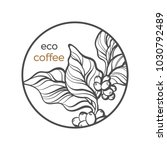 vector symbol of coffee tree ... | Shutterstock .eps vector #1030792489
