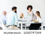 view at business people around... | Shutterstock . vector #1030797349