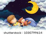 little girl sleeping with...