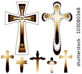 Set Of Seven Christian Crosses...