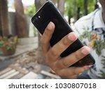 catching a hack | Shutterstock . vector #1030807018