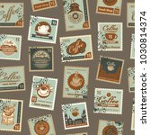 retro postage seamless... | Shutterstock .eps vector #1030814374