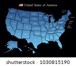 usa map vector | Shutterstock .eps vector #1030815190