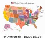 usa map vector | Shutterstock .eps vector #1030815196