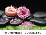 spa sitting with rose and...   Shutterstock . vector #103081550