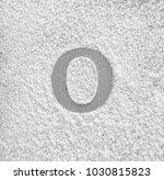 silhouette of letter o on... | Shutterstock . vector #1030815823