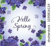 hello spring background. text... | Shutterstock .eps vector #1030816114