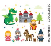 fantasy fairy tale clipart with ... | Shutterstock .eps vector #1030818880