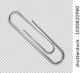 realistic paper clip. isolated... | Shutterstock .eps vector #1030820980