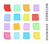 set of colorful stickers on... | Shutterstock .eps vector #1030821208