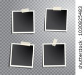 four blank instant photos... | Shutterstock .eps vector #1030825483