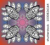 snowflake vector icon colored... | Shutterstock .eps vector #1030826164