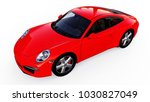 red porsche 911 three...   Shutterstock . vector #1030827049
