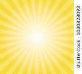 yellow sun ray background.... | Shutterstock .eps vector #1030828093