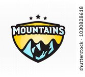mountains   colorful badge for... | Shutterstock .eps vector #1030828618