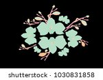 abstract orchid pattern. gentle ... | Shutterstock .eps vector #1030831858