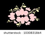 abstract orchid pattern. gentle ... | Shutterstock .eps vector #1030831864