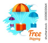 free shipping parcel delivery... | Shutterstock .eps vector #1030833064