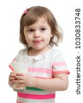 funny child girl drinking... | Shutterstock . vector #1030833748