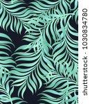 seamless tropical vector... | Shutterstock .eps vector #1030834780