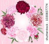 vector illustrations of peonies.... | Shutterstock .eps vector #1030837774