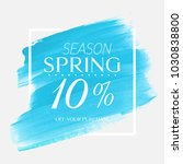 spring sale 10  off sign over...   Shutterstock .eps vector #1030838800